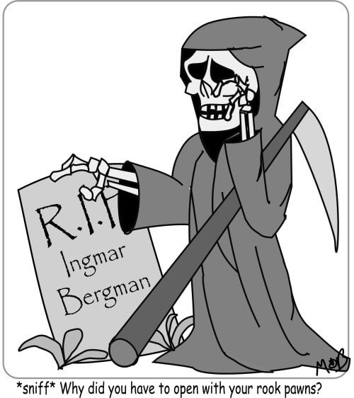 Ingmar Bergman memorial cartoon