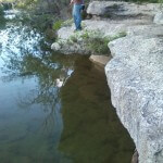 Cliff fishing at Bull Creek