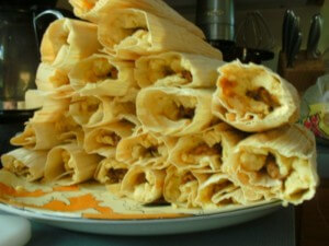 The steamed tamales